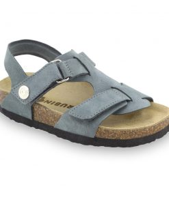 ROTONDA skórzane sandały dziecięce-welur (23-29)