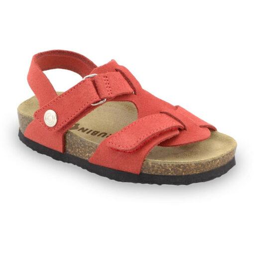 ROTONDA skórzane sandały dziecięce-welur (30-35)