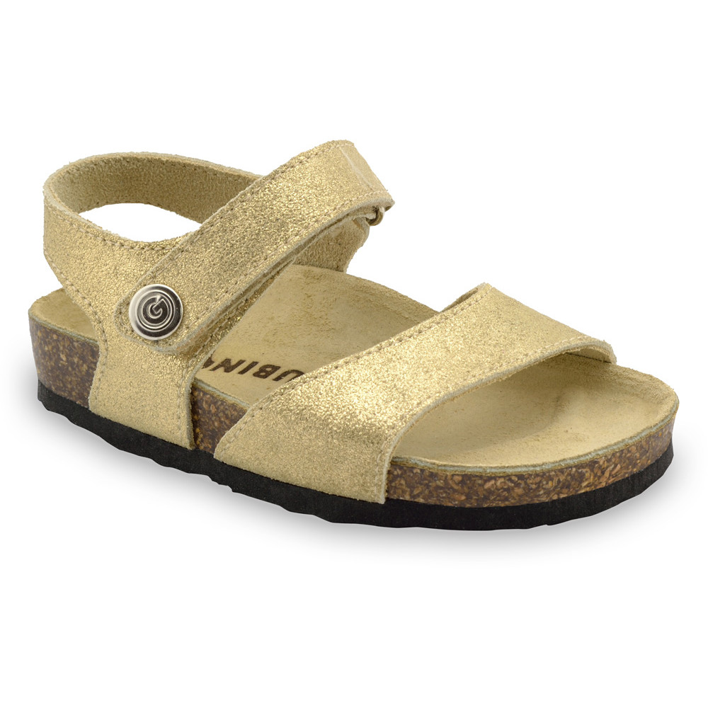 LEONARDO sandały dla dzieci - skóra (23-29) - złoty, 27