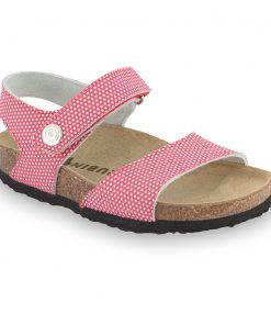 LEONARDO sandały dla dzieci - skóra nubuk (30-35)