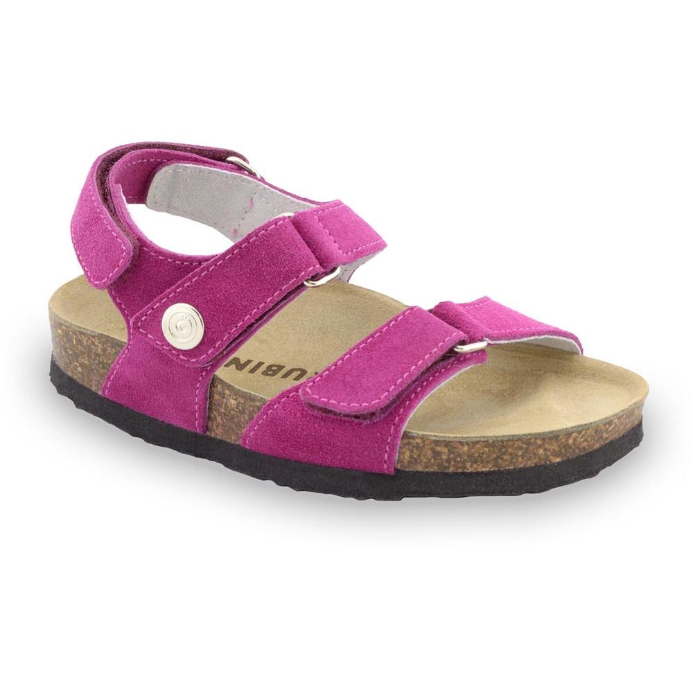 DONATELO sandały dla dzieci - zamsz (23-29) - fioletowy, 24