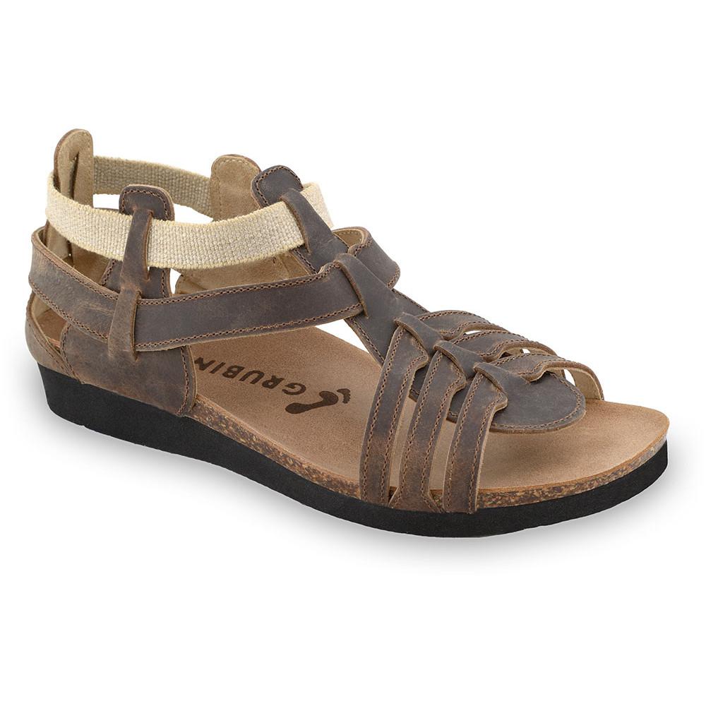 ANASTASIJA sandały dla kobiet - skóra (36-42) - brązowy, 37