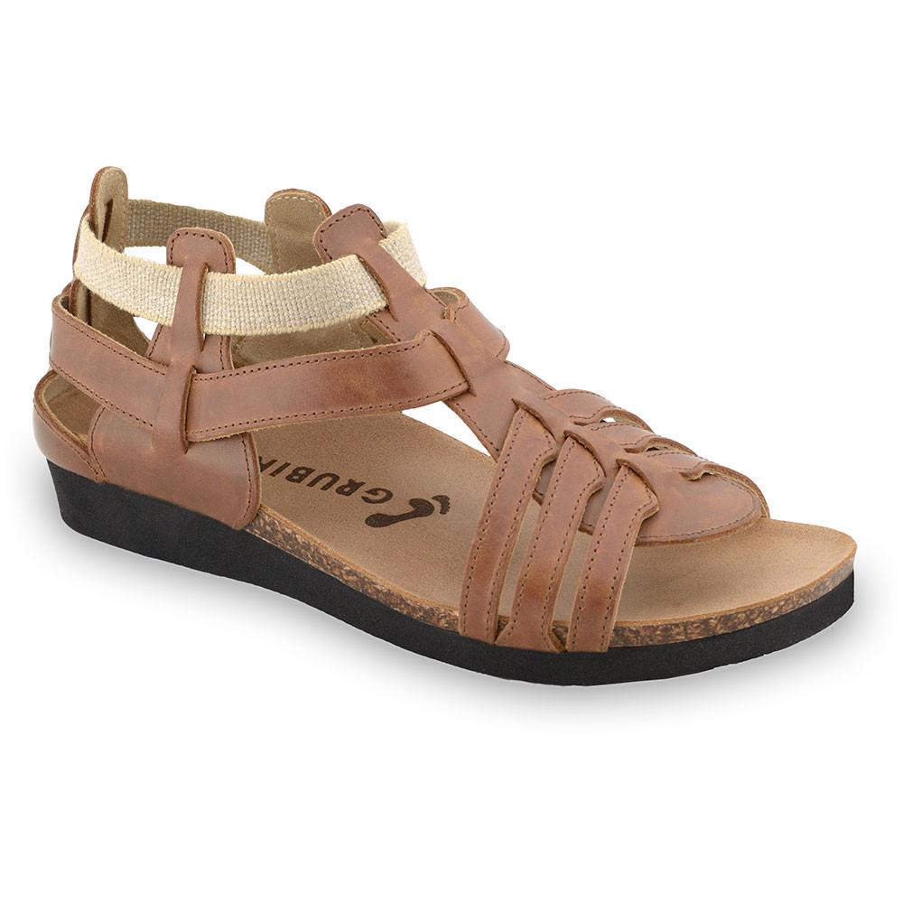 ANASTASIJA sandały dla kobiet - skóra (36-42) - jasnobrązowy, 36