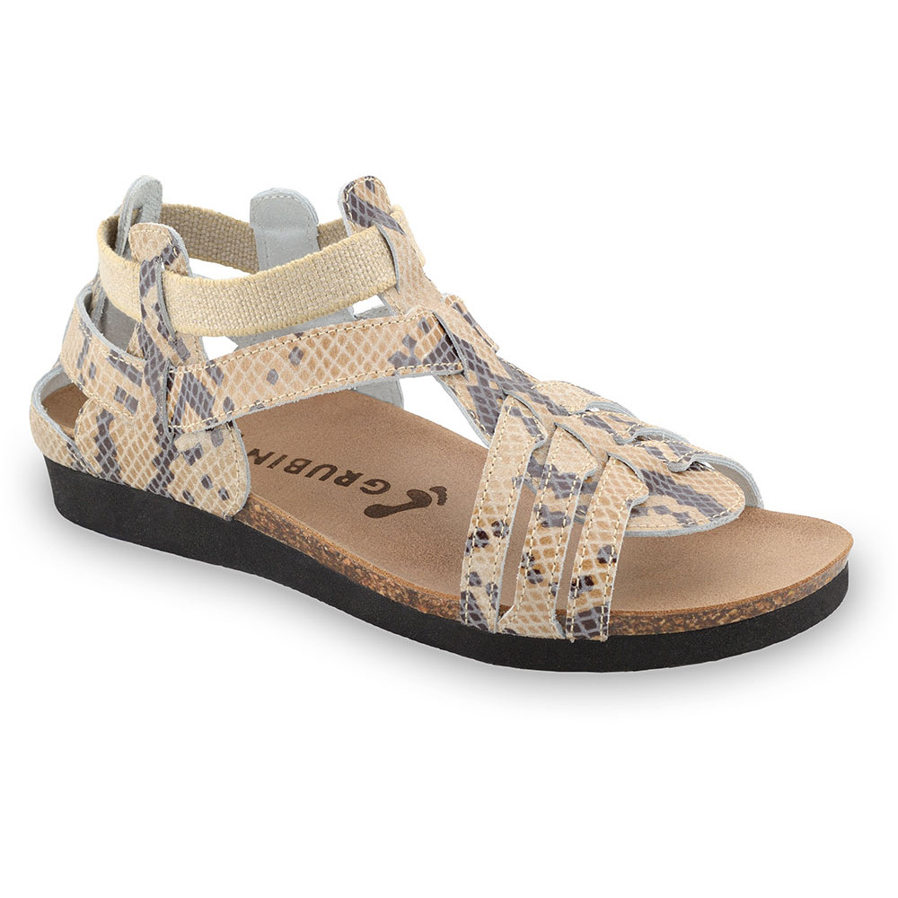 ANASTASIJA sandały dla kobiet - skóra (36-42) - brązowy wąż, 36