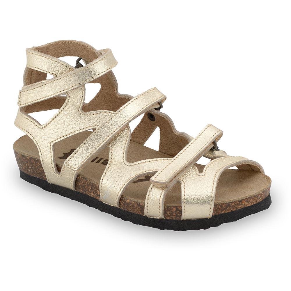 MERIDA sandały dla dzieci - skóra (25-29) - złoty, 29