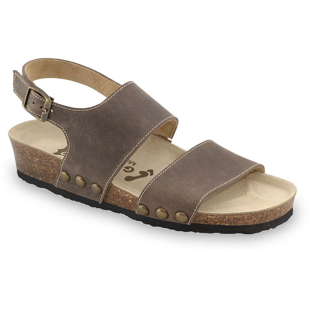 CHARLOTTE sandały dla kobiet - skóra (36-42) - brązowy, 38